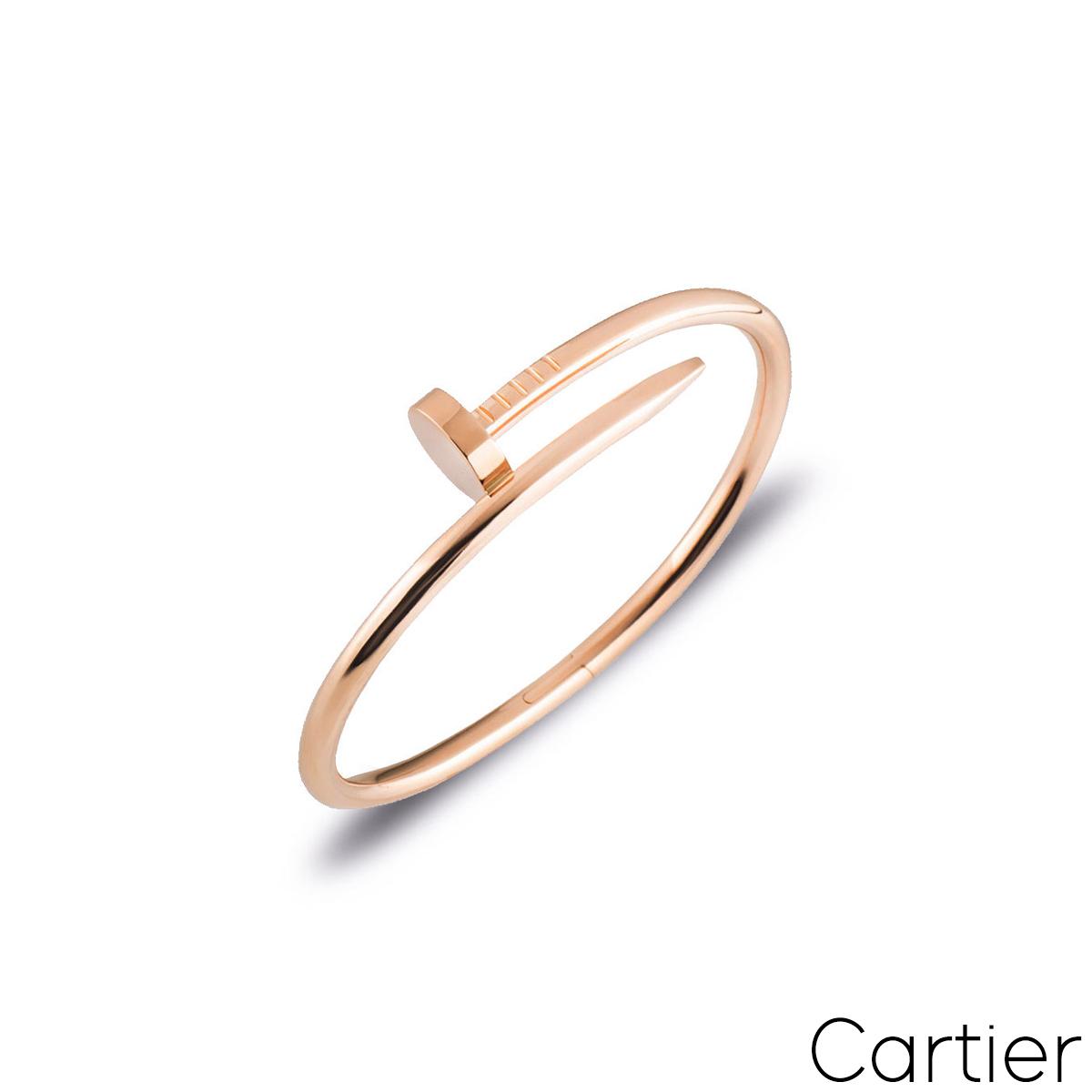 Cartier Rose Gold Plain Juste Un Clou Bracelet Size 16 B6048116